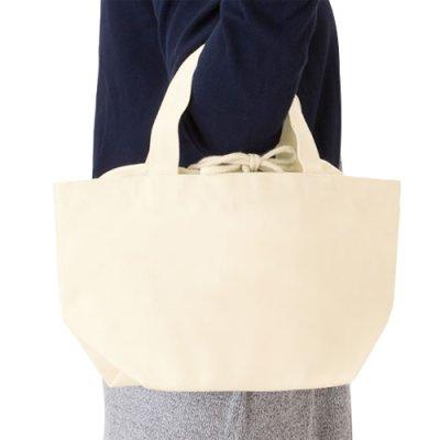 画像2: 厚手キャンバス巾着付トート(S)